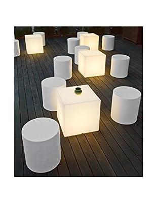 Artkalia Kubbia Moderna Wireless LED Table/Seat, White Opaque