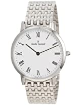 Claude Bernard Men's 20061 3M BR Classic Gents - Slim Line White Dial Stainless Steel Watch
