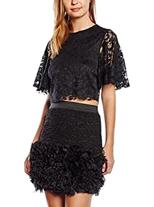 Rare London Top Lace Cape Black
