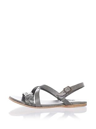 Fiel Women's Montserrat Sandal with Ankle Strap (Grey)