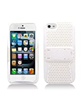 Aimo Wireless IPH5PCPA008S Hybrid Armor Cheeze Case for iPhone 5 - Retail Packaging - White