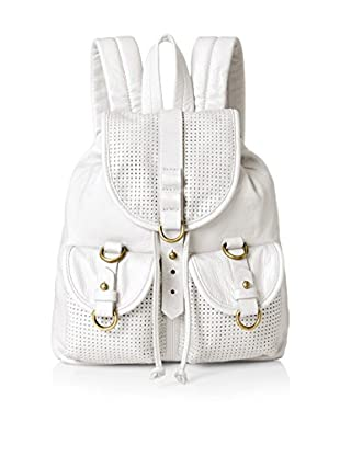 Joelle Hawkens Women's Small Rachel Perforated Small Backpack, Ice