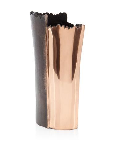 Shiraleah Tall Bark Recycled Aluminum Vase (Copper)