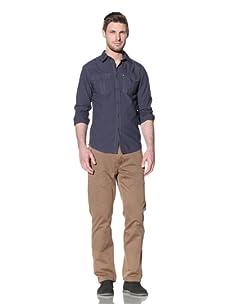 Just A Cheap Shirt Men's Todd Button-Up Shirt (Dark Grey/Blue)