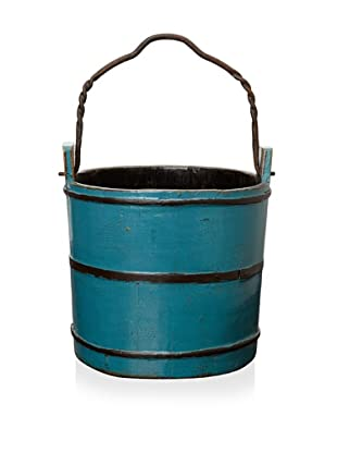 Royola Pacific Wooden Water Bucket (Peacock Teal)