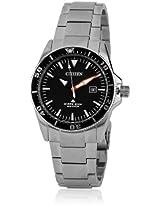 Bn0100-51E Black/Silver Analog Watch CITIZEN