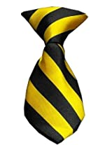 Mirage Pet Products Dog Neck Tie, Yellow Striped