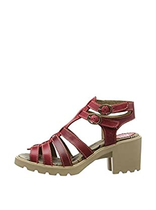 Fly London Sandalias Ceer (Rojo)