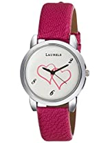 Laurels Original February Analog White Dial Women's Watch - Lo-Feb-101