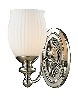 Artistic Lighting Park Ridge 1-Light LED Sconce, Polished Nickel