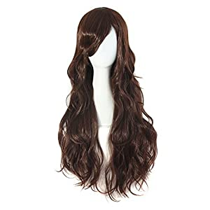 MapofBeauty Curly Stylish Women Lady Sexy Long Wavy Party Hair Cosplay Wigs