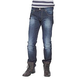 66Jeans Men's Cotton Jeans, Indigo Blue