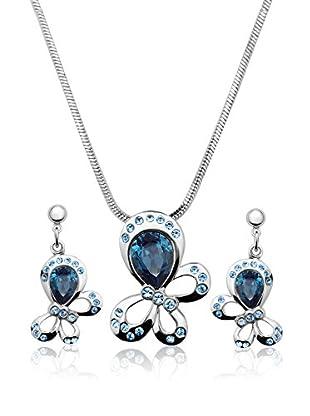 Passion Obscure Set Halskette und Ohrringe  silberfarben/blau