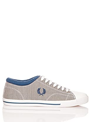 Fred Perry Deportiva Reprise Stripe/Leather (Azul)