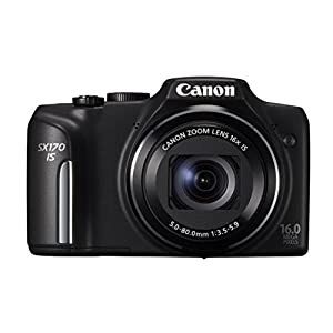 Canon Powershot SX170 16MP Point and Shoot Camera (black) with 16x Optical Zoom, Camera Case