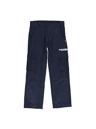 Pantalón Cargo Slim (Azul)