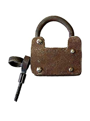 Locks of Love Vintage-Inspired Square Padlock, c 1970s