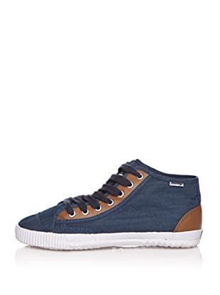 Shulong Zapatillas Shudenim High (Denim / Marrón)
