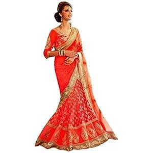 Bridal lehengas - Designer Heavy Lehenga Saree SC5001A