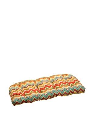 Pillow Perfect Outdoor Tamarama Wicker Loveseat Cushion, Multicolor