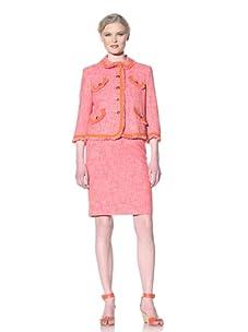 Moschino Cheap and Chic Women's Boucle Jacket (Fuchsia/Light Pink)