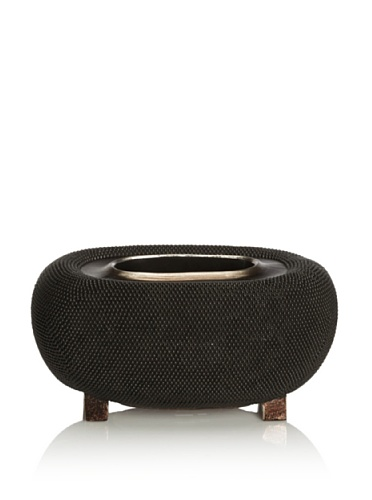 Dynasty by Carolyn Kinder Caviar Oval Bowl (Black/Bronze)