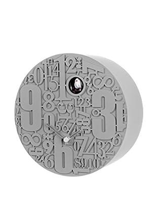 Diamantini & Domeniconi Kuckucksuhr Metropolis grau