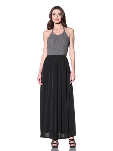 Vena Cava Women's Ciccone Striped-Top Long Dress (Black/Grey)