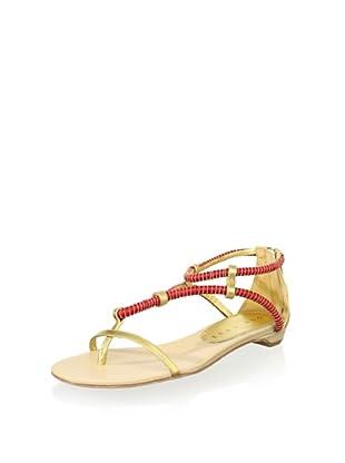 Lola Cruz Women's Flat Sandal (Coral)