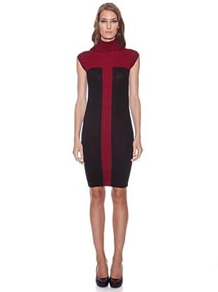 Isabel de Pedro Vestido Sin Mangas Bicolor (Rojo)