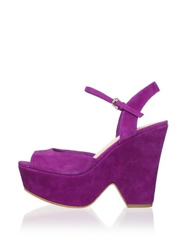 Dolce Vita Women's Jacobi Wedge Sandal (Magenta)