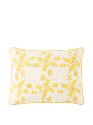 Wedding Ring Pillow Sham (Yellow)