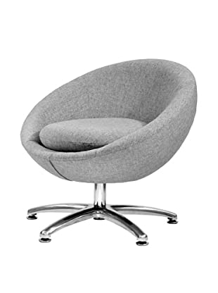 Overman International Five Prong Base Astro Chair, Light Grey