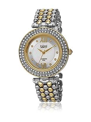 Bürgi Uhr mit schweizer Quarzuhrwerk Woman goldfarben/silberfarben 36 mm
