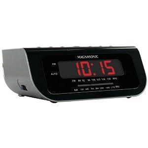 Magnasonic Compact AM/FM Alarm Clock Radio