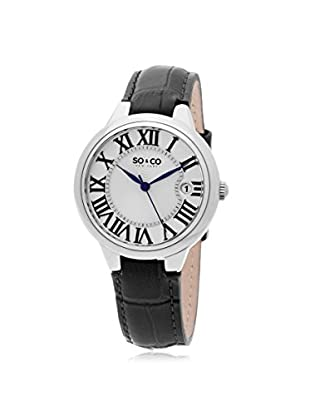 SO&CO New York Women's Madison Metal Watch, Black/Silver