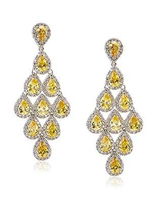CZ by Kenneth Jay Lane Cascading CZ Pears Dangle Post Earrings