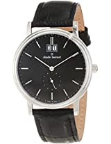 Claude Bernard Men's 64010 3 NIN Classic Gents Black Dial Leather Date Watch
