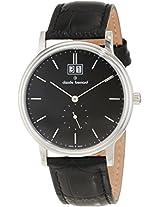 Claude Bernard Men's 64010 3 NIN Classic Gents Black Dial Leather Date Watch