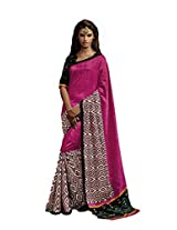 sareez Pink Color Bhagalpuri Silk Saree