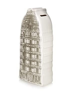 The HomePort Collections Ceramic Spire Rotunda Bank (White)