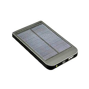 Exilient 2600 mAh Ultra Slim Solar & Li Polymer Power Bank charger for Smart Phone, iPhone, iPad, PSP, Ebook (Black)