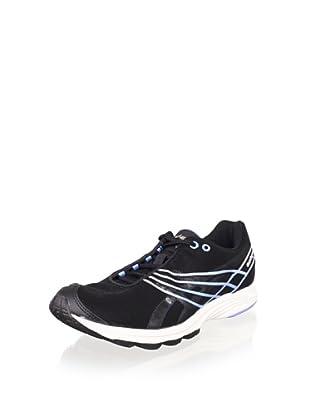 ASICS Women's GEL-Sayuri Running Shoe (Black/Lightning/Blue)
