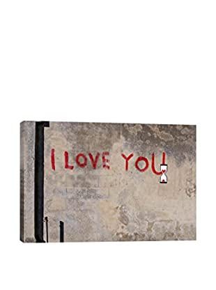 Banksy I Love You Gallery Wrapped Canvas Print