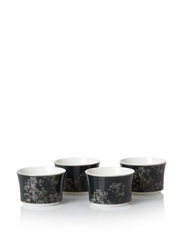 Noritake Set of 4 Everyday Elegance Verdena Handleless Cups, Platinum, 7.5-Oz.