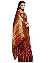 Meghdoot Artificial Silk Saree (VIVAAH_MT1276_MAROON Woven Maroon Colour Sari)