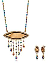 Ava Jewellery Set for Women (Brown) (S-SD-AQS5A)