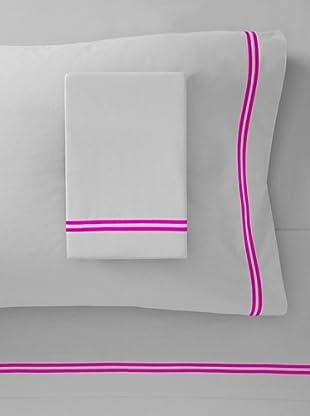 Mason Street Textiles Two Cord Sheet Set (Steel/Bright Pink)