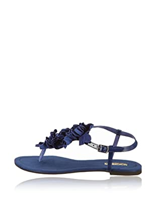 Buffalo London 310-2215-3 PATENT PU KID SUEDE - Sandalias de dedo  mujer (Azul)