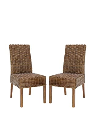 Safavieh Set of 2 Sanibel Side Chairs, Light Brown